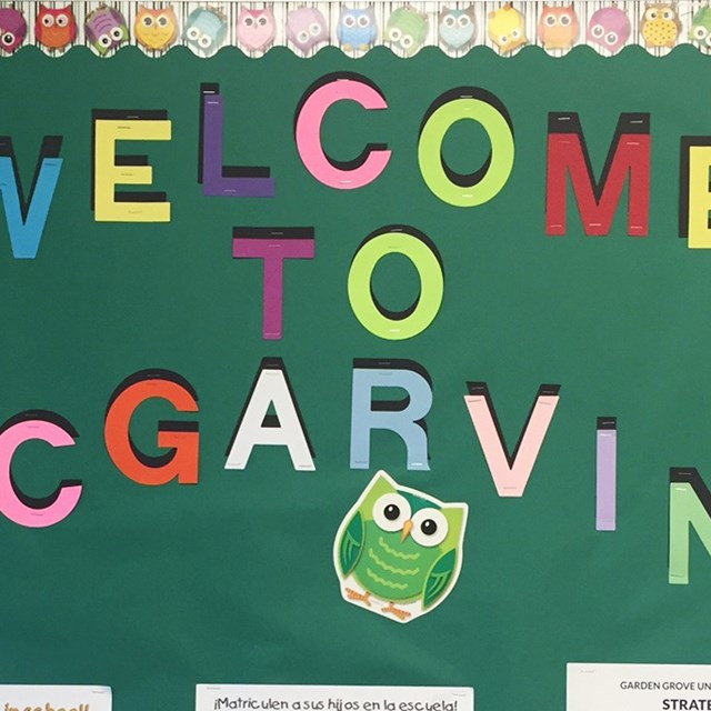 McGarvin welcomed all students for a new school year. Go Owls!